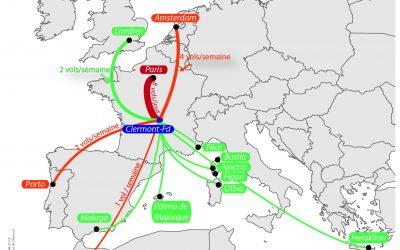 Une fréquentation en hausse pour l'aéroport Clermont-Ferrand Auvergne