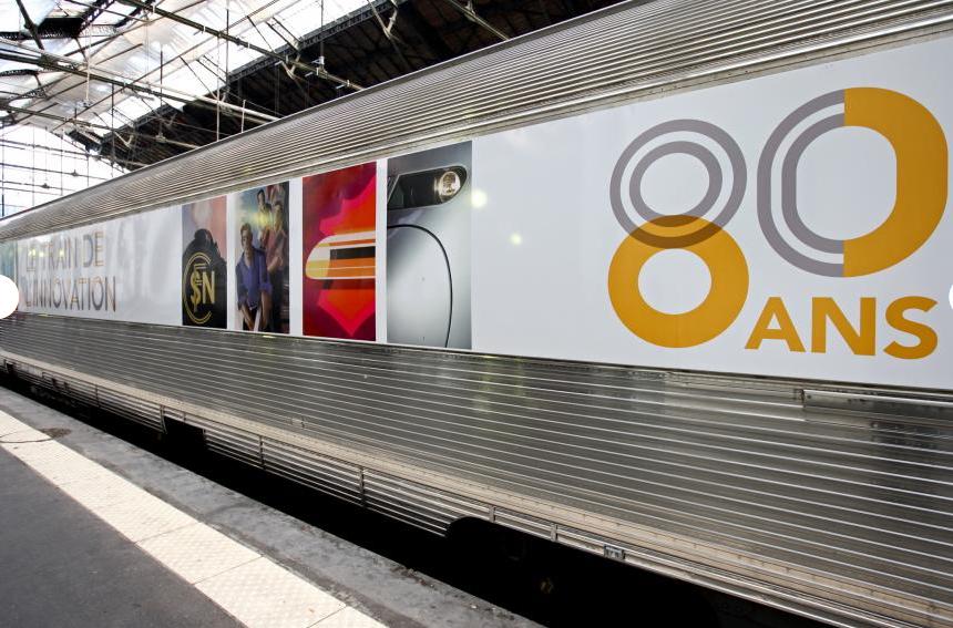 Le train de l'innovation en gare de Clermont-Fd le 07 octobre